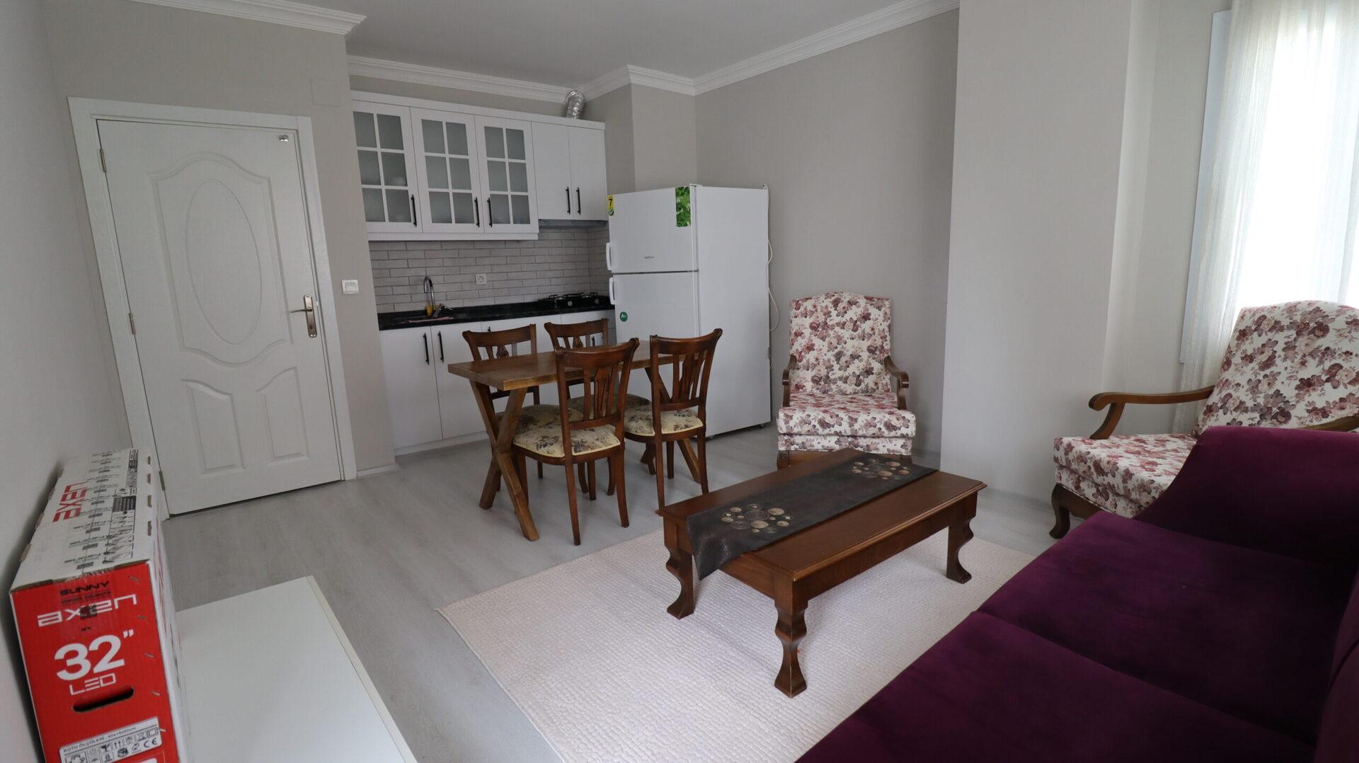 1 + 1 Furnished Apartment For Sale Near Mersin Erdemli Alata University